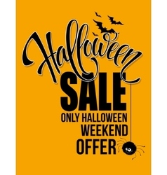 Halloween sale happy holiday vector