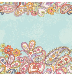 Hand drawn pattern with paisley vector image vector image