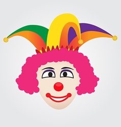 Joker face with jester hat vector