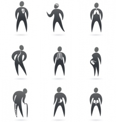 medical icons x-ray vector image