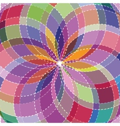 Mosaic spectrum color wheel vector image vector image