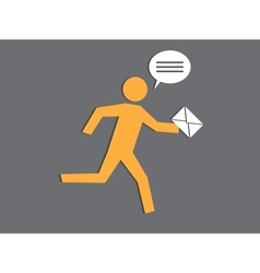 running the postman vector image