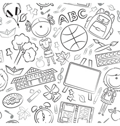 School girls with tools and education objects vector