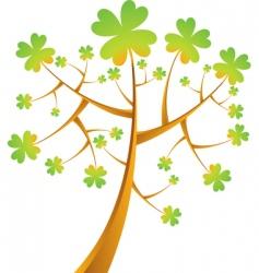 shamrock tree vector illustration vector image vector image