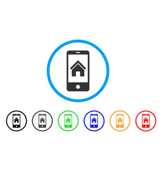 Smartphone homepage rounded icon vector