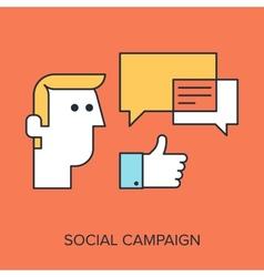 Social campaign vector