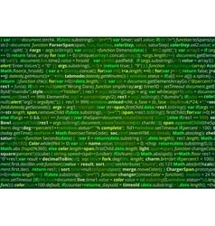 Source code screen vector image vector image