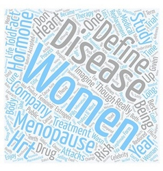 The change when menopause became a disease text vector