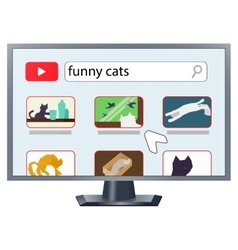 Tv with internet vector