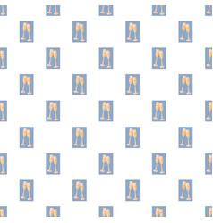 two champagne glasses pattern vector image
