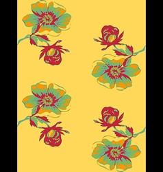 Wallpaper seamless floral vintage background vector image