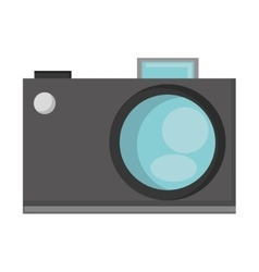 Analog photographic camera icon vector