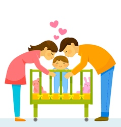 Loving parents vector