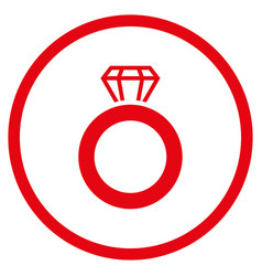 gem ring rounded icon vector image