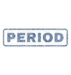 Period textile stamp vector
