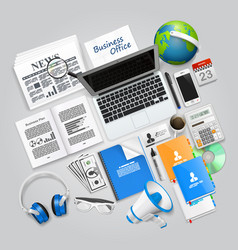 Business collage items vector