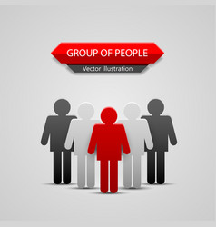 group of people leader vector image