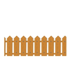 Wooden Boards Fence Seamless vector image