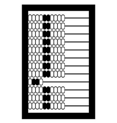 Abacus old retro vintage icon stock vector