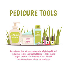 Pedicure tools concept vector