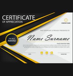 gold black elegance certificate template set vector image