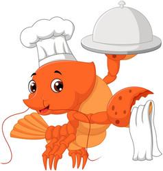Lobster cartoon vector