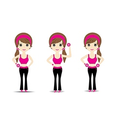 Woman exercising vector
