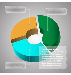 Pie chart business diagram vector