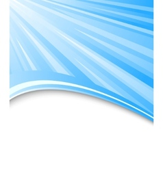 blue background with rays vector image