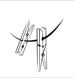 Clothespins vector