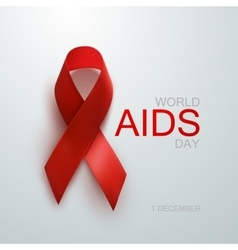 Aids awareness red ribbon vector