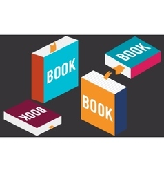 Set of books in flat design vector