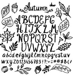 Abstract hand drawn alphabet modern font abc vector