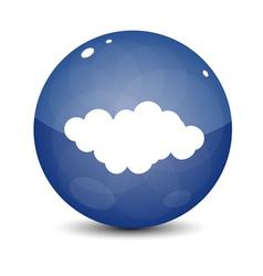 Blue Cloud Icon vector image vector image