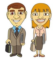 businessman businesswoman frontal vector image