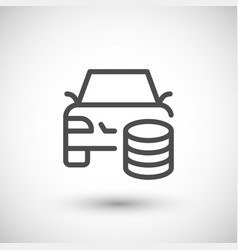 Car rent line icon vector
