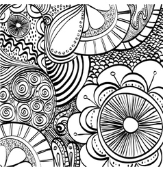 Doodle draw background vector image vector image