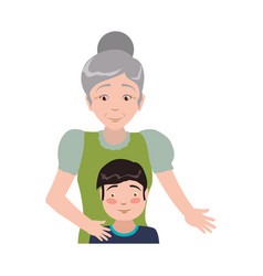 Grandmother elder person babysitter vector