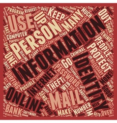 How To Protect Your Identity Online text vector image vector image