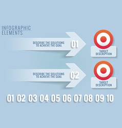 Infographic elements targets and solutions vector