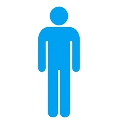 Man Flat Icon vector image vector image