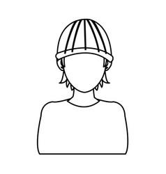 man hacker guy portrait thief technology vector image