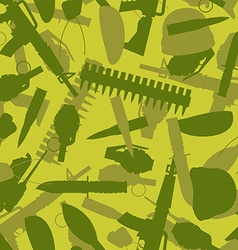 Military texture Silhouettes of arms and equipment vector image vector image