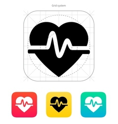 Pulse heart icon vector image vector image