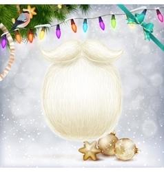 Santa s beard EPS 10 vector image vector image