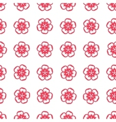 Seamless pattern with sakura flowers in Chinese vector image vector image