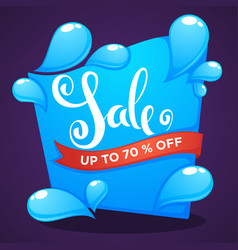 season sale shine water drop discount banner vector image vector image