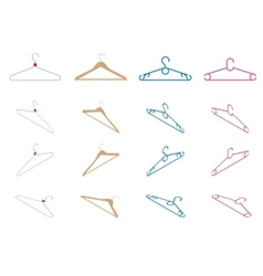 Set of hangers flat vector image