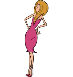 sexy woman cartoon vector image