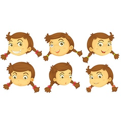 Variations of a girls faces vector